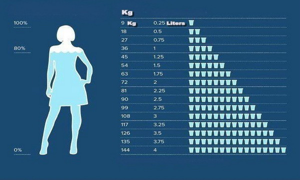 How Much Water Should To Drink Per Day According To The ...